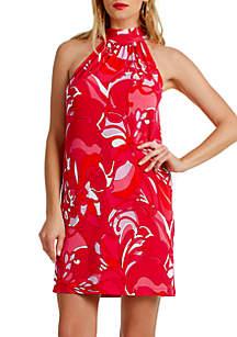 Trina Turk Halter Printed Craving Dress