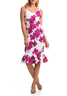 Trina Turk Sleeveless Fitted Outing Dress