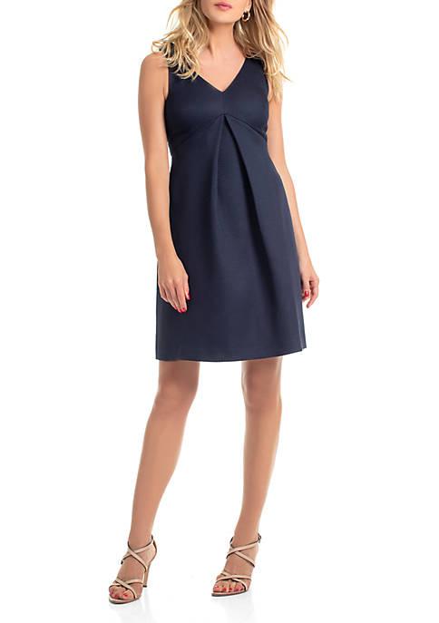 Sleeveless V Neck Observer Dress