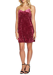 Mia Crushed Velvet Slip Dress