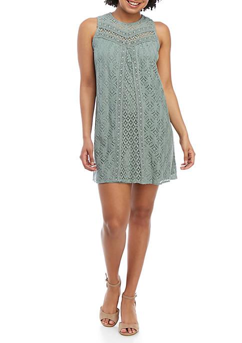 Jolt Sleeveless Lace Crochet Dress