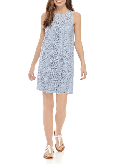 Sleeveless Lace Crochet Dress