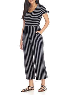 Knit Stripe Jumpsuit