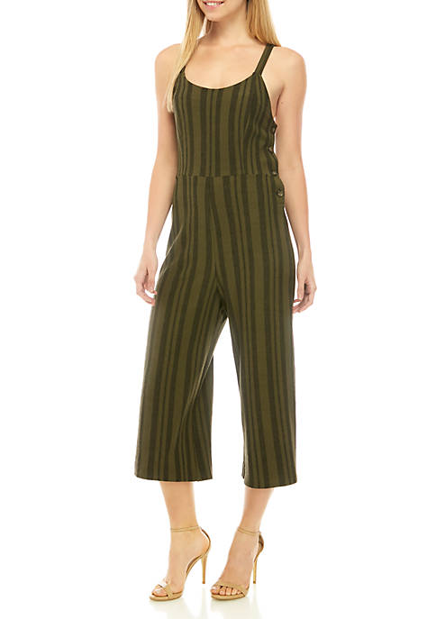 Jolt Sleeveless Stripe Knit Jumpsuit