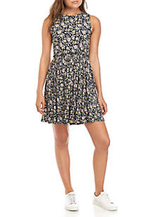 Jolt Sleeveless Knit Babydoll Dress