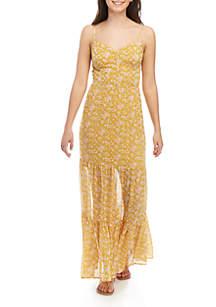 Jolt Floral Tiered Maxi Dress