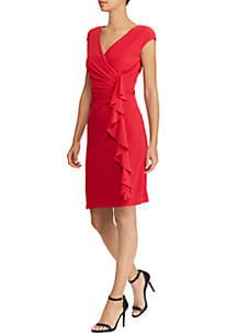 Harper Matte Jersey Ruching Dress