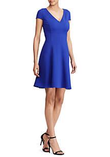 Edith Textured Jersey V-Neck Dress