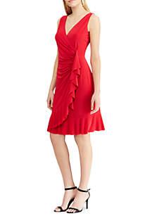 Ruffled Jersey Sleeveless Dress