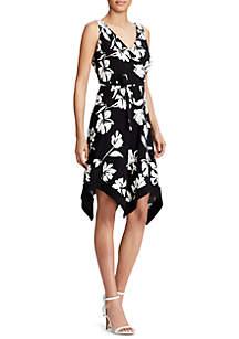 Edina Floral-Print Jersey Dress
