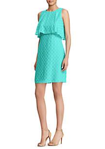 Kristin Novelty Overlay Jacquard Dress
