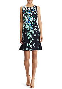 Schiller Matte Floral-Print Jersey Dress