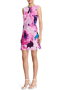 Thedalina Georgette Floral-Print Dress