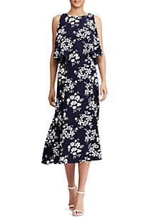 Ingrid Crepe Floral-Print Georgette Dress