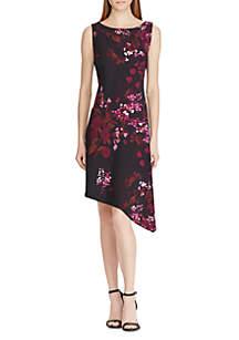 Nixie Sleeveless Flat Front Crepe Print Dress