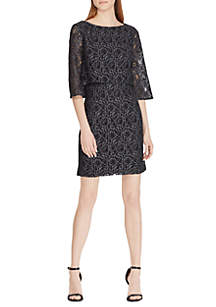 Bodice Overlay Lace Dress