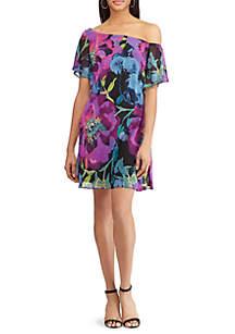 Estie Georgette Kingsbury Floral Dress