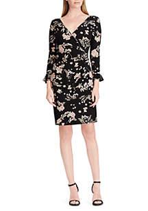 Fallon Long Sleeve Matte Jersey Print Dress