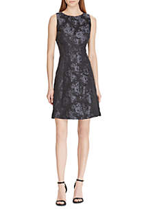Jacquard Fit-and-Flare Dress