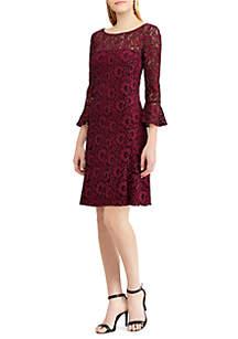 Kintara 3/4 Bell Sleeve Lace Dress