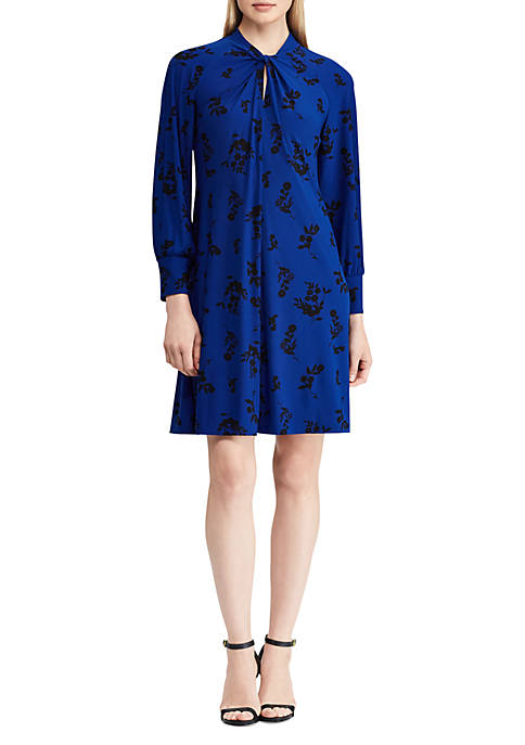 American Living™ Floral Twist-Front Jersey Dress