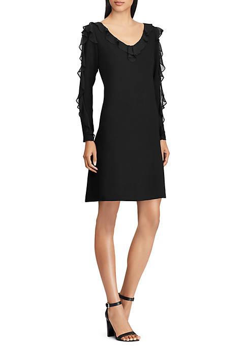 Georgette-Ruffle Dress
