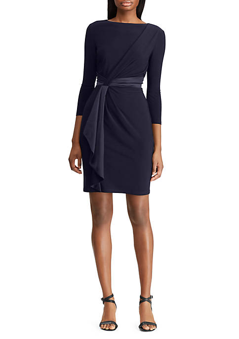 American Living™ Ruffled Satin-Jersey Dress