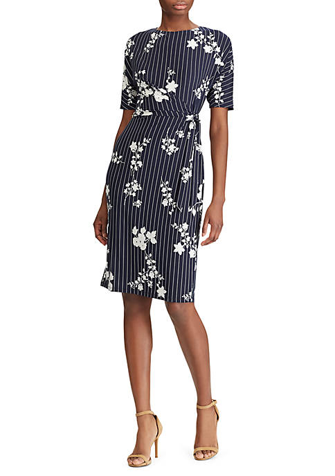 American Living™ Striped Floral Jersey Dress