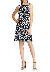 American Living™ Floral Jersey Fit and Flare Dress