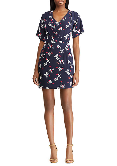 American Living™ Pleated Floral Georgette Dress