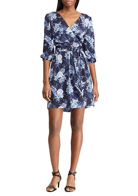 American Living™ Floral Faux-Wrap Dress