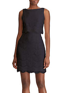 6fac4b726a269 ... American Living™ Scalloped Lace Popover Dress