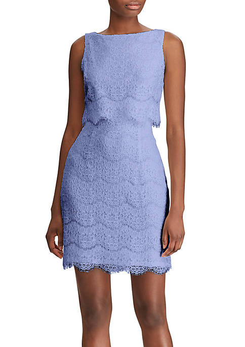 Scalloped Lace Popover Dress