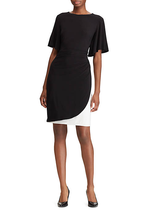 American Living™ Two Tone Shirred Jersey Dress
