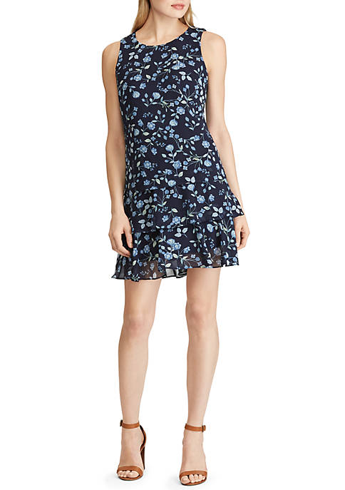 American Living™ Floral Tiered Georgette Dress