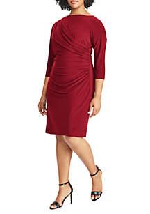 Plus Size Shirred Jersey Dress