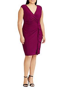 Plus Size Ruffled Jersey Dress