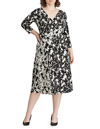 American Living™ Plus Size Floral Jersey Dress