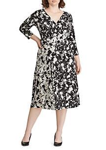 Plus Size Floral Jersey Dress