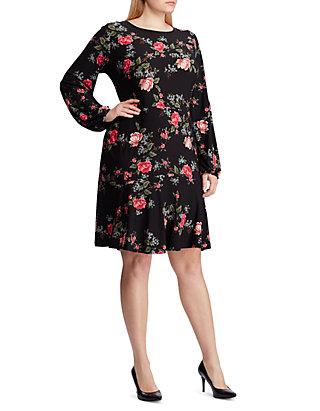 American Living™ Plus Size Floral Drop Waist Jersey Dress | belk