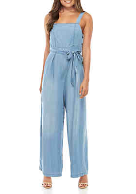 2ba546e8c7f1 Taylor & Sage Sleeveless Wrap Chambray Jumpsuit ...
