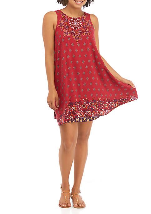 Taylor & Sage Juniors Tank Swing Printed Dress