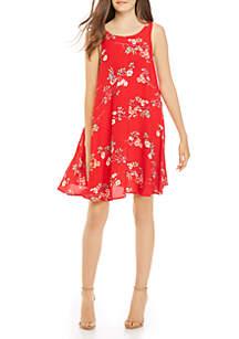 Taylor & Sage Printed Swing Tank Dress