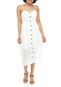 Taylor & Sage Eyelet Midi Dress