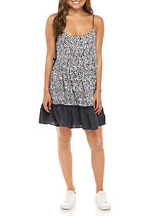 Taylor & Sage Woven Tiered Tank Dress