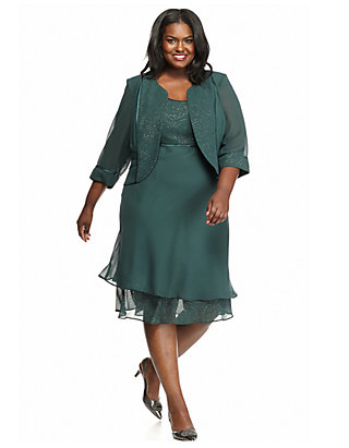 Maya Brooke Plus Size Jacket Dress   belk