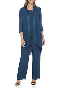 3-Piece Fortuny Trim Pant Set