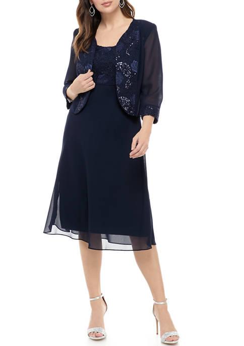 Womens Chiffon Jacket Dress