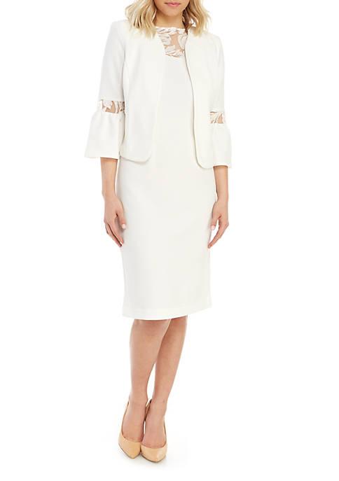 Bell Sleeve Jacket and Dress Set
