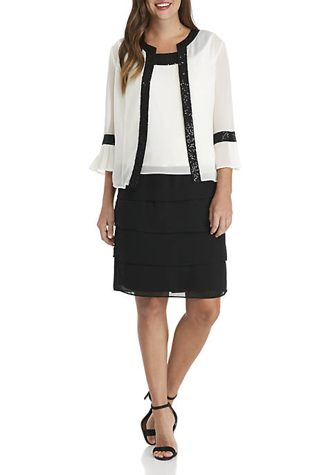 Le Bos Plus Size 2-Piece Dress with Jacket